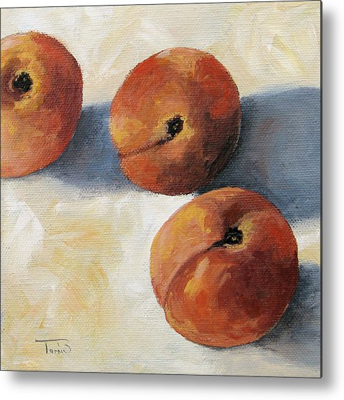 Peaches Metal Print featuring the painting More Georgia Peaches by Torrie Smiley