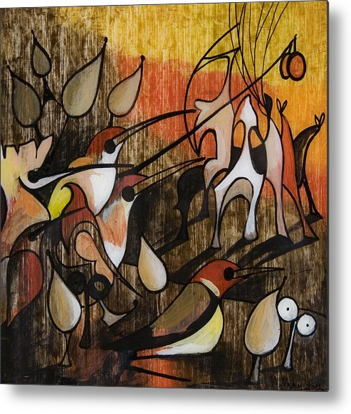 Hieronymus Bosch Metal Print featuring the painting My Bosch 1 by Vaan Manoukian