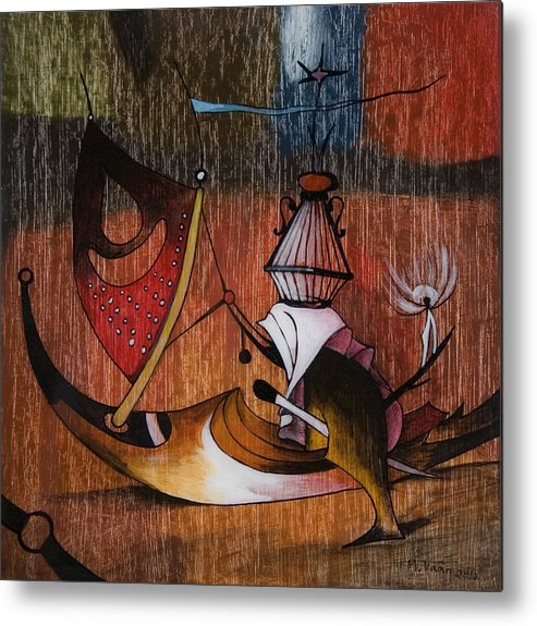 Hieronymus Bosch Metal Print featuring the painting My Bosch 3 by Vaan Manoukian
