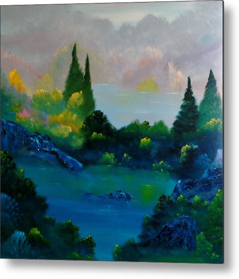 Landscape Metal Print featuring the painting Near Coldstone by David Snider