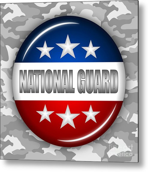 National Guard Metal Print featuring the digital art Nice National Guard Shield 2 by Pamela Johnson