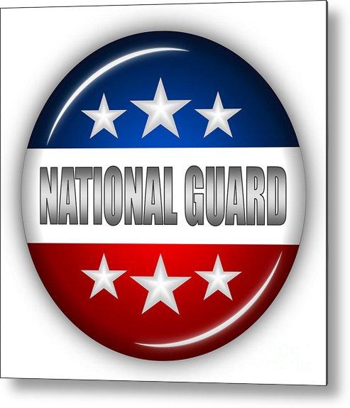 National Guard Metal Print featuring the digital art Nice National Guard Shield by Pamela Johnson