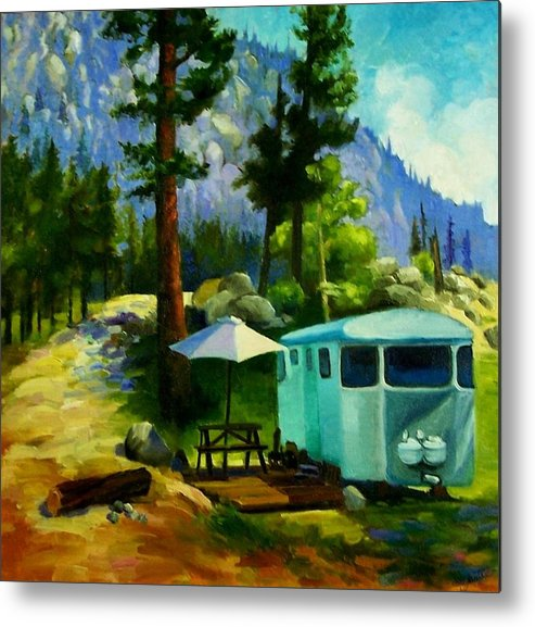 Sierra Metal Print featuring the painting On Vacation by Janette Reed-Lawson
