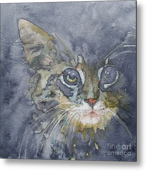 Tabby Metal Print featuring the painting Out The Blue You Came To Me by Paul Lovering