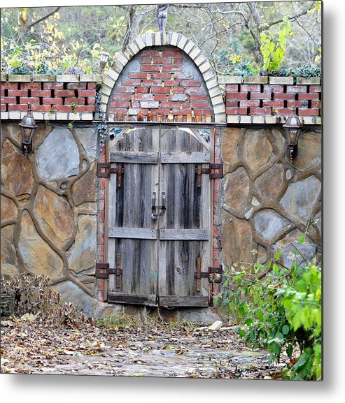 Architectural Metal Print featuring the photograph Ozark Gate by Jan Amiss Photography