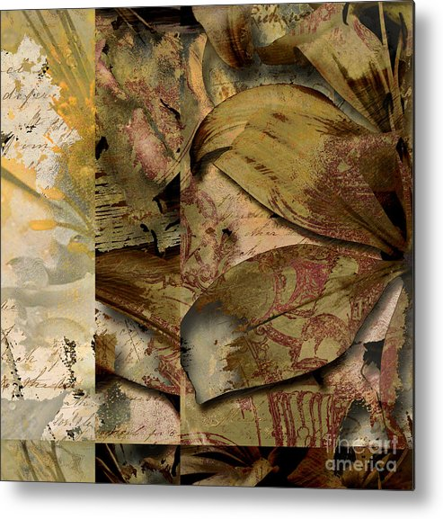 Metal Print featuring the mixed media Peace II by Yanni Theodorou