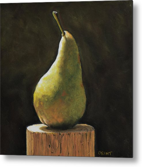 Pear Metal Print featuring the painting Pear by Joanne Grant