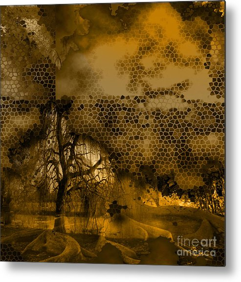 Metal Print featuring the mixed media Peer by Yanni Theodorou