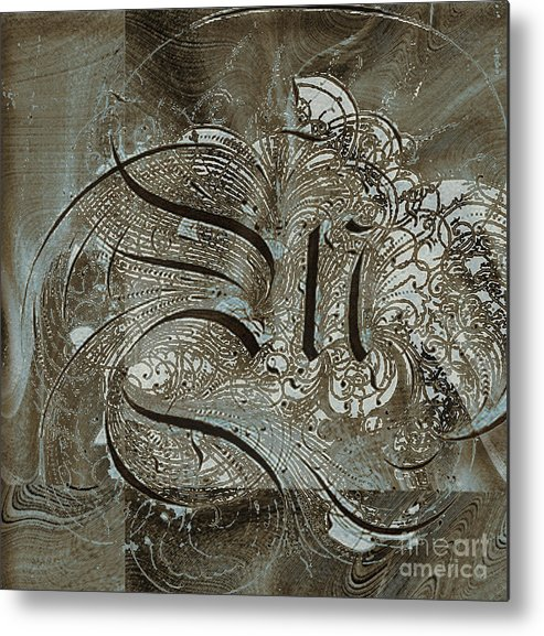 Metal Print featuring the mixed media Q by Yanni Theodorou