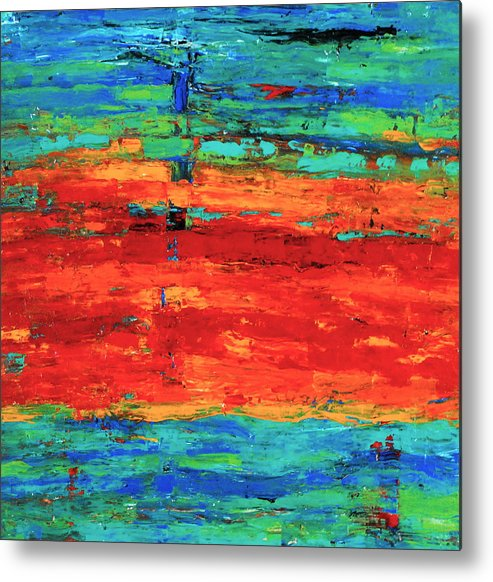 Rainbow Metal Print featuring the painting Rainbow by S Stone
