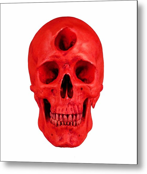 Red Metal Print featuring the digital art Red by Noah Zark