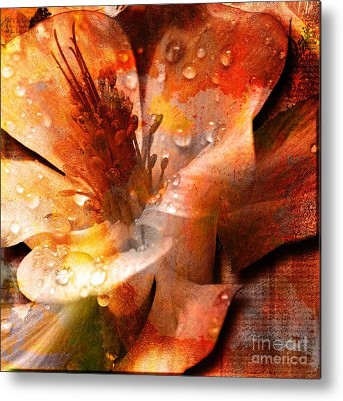 Metal Print featuring the mixed media Seeds II by Yanni Theodorou