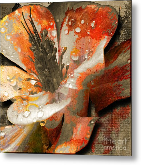 Metal Print featuring the mixed media Seeds by Yanni Theodorou