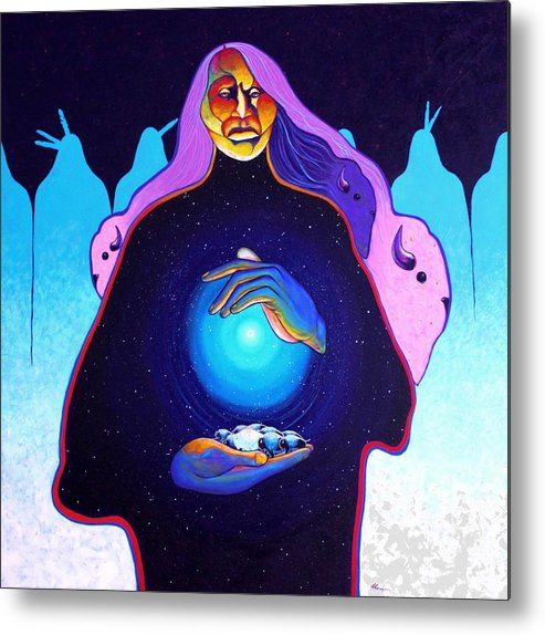 Spiritual Metal Print featuring the painting She Carries The Spirit by Joe Triano