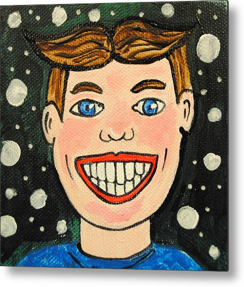 Asbury Park Metal Print featuring the painting Smiling Boy by Patricia Arroyo