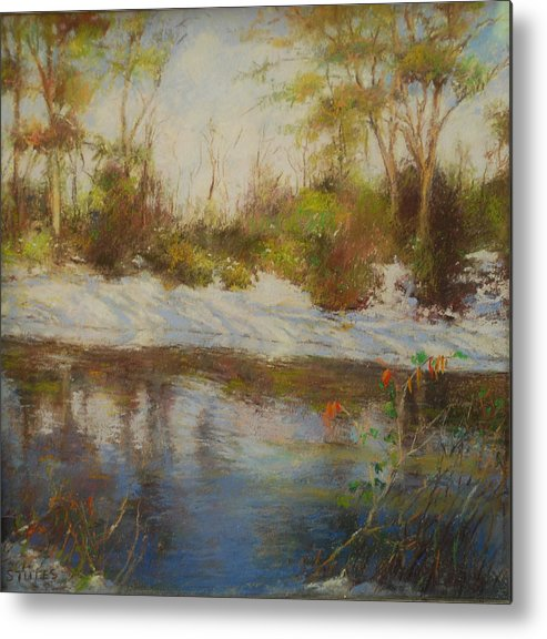 Landscapes Metal Print featuring the pastel Southern Landscapes  by Nancy Stutes