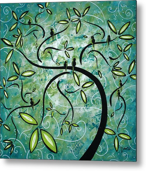 Wall Metal Print featuring the painting Spring Shine By Madart by Megan Duncanson