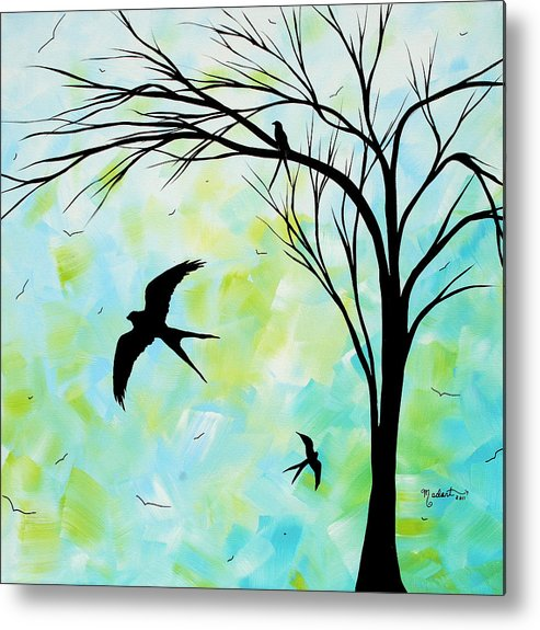 Wall Metal Print featuring the painting The Simple Life By Madart by Megan Duncanson