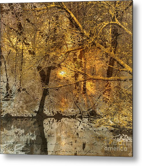 Metal Print featuring the mixed media Time II by Yanni Theodorou
