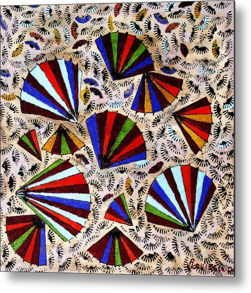Abstract Metal Print featuring the painting Untitled No. 1 by Robyn Louisell