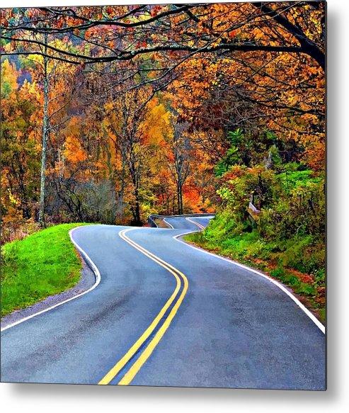 West Virginia Metal Print featuring the photograph West Virginia Curves 2 by Steve Harrington