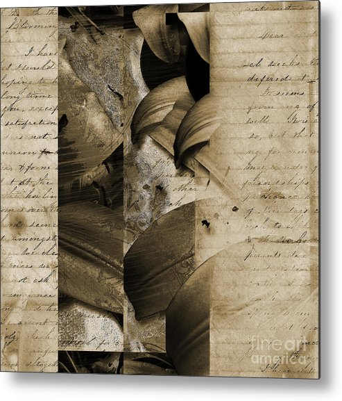 Metal Print featuring the mixed media Written II by Yanni Theodorou
