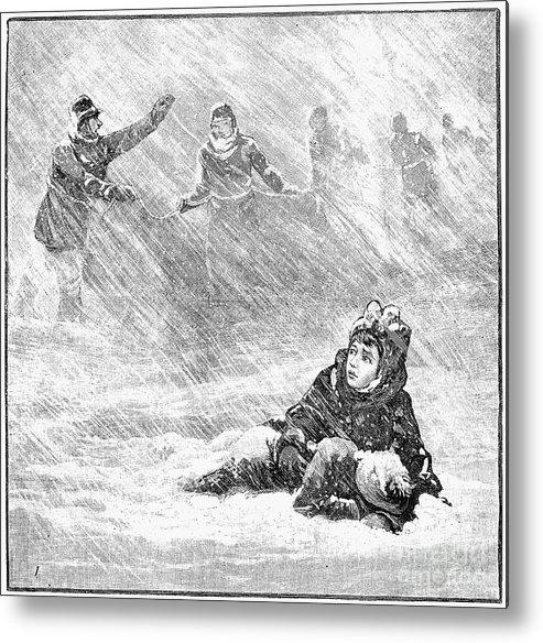 1888 Metal Print featuring the photograph Dakota Blizzard, 1888 by Granger