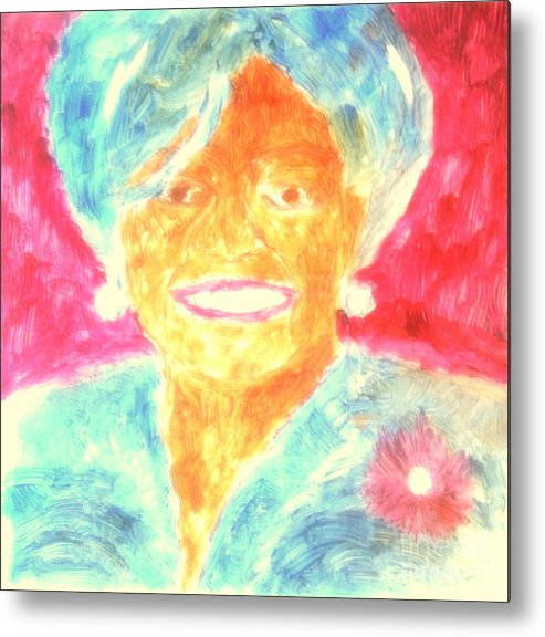 President Obama Metal Print featuring the painting Michelle Obama 2 by Richard W Linford