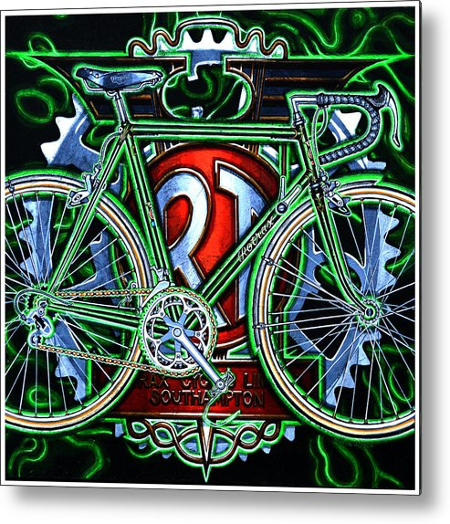 Bicycle Metal Print featuring the painting Rotrax by Mark Howard Jones