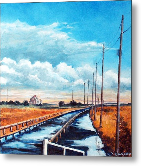 Summer Cottage Metal Print featuring the painting Summer Cottage by Robert Harvey