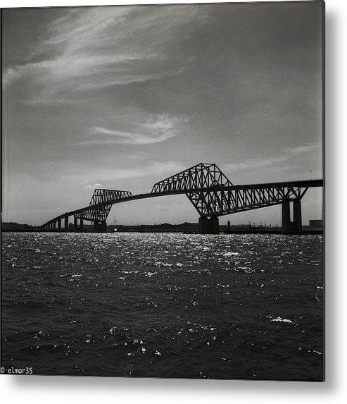 Vertical Metal Print featuring the photograph Tokyo Gate Bridge by Elmar35