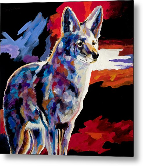 Wildlife Art Metal Print featuring the painting Vigilant by Bob Coonts
