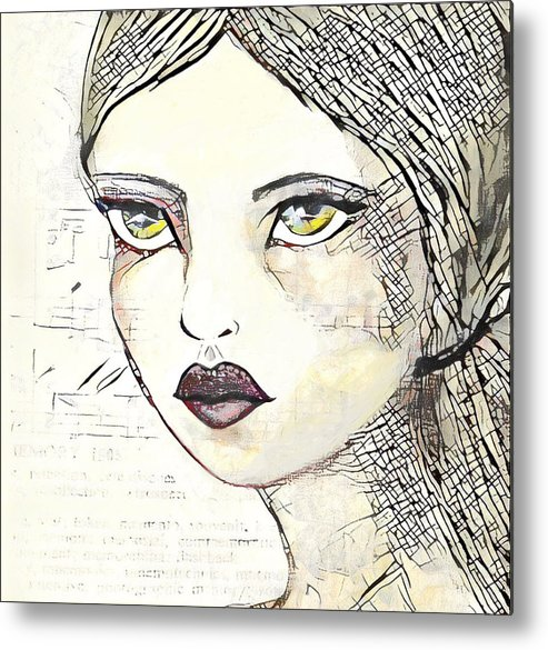 Girl Metal Print featuring the painting Annabel 2 by Vanessa Katz