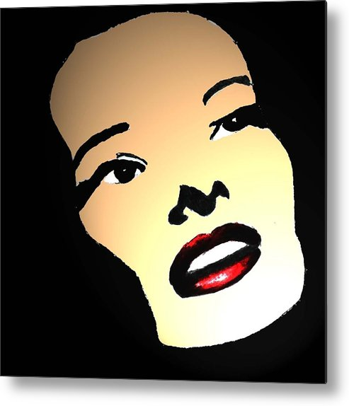 Woman Metal Print featuring the drawing In The Spotlight by Jennifer Ott