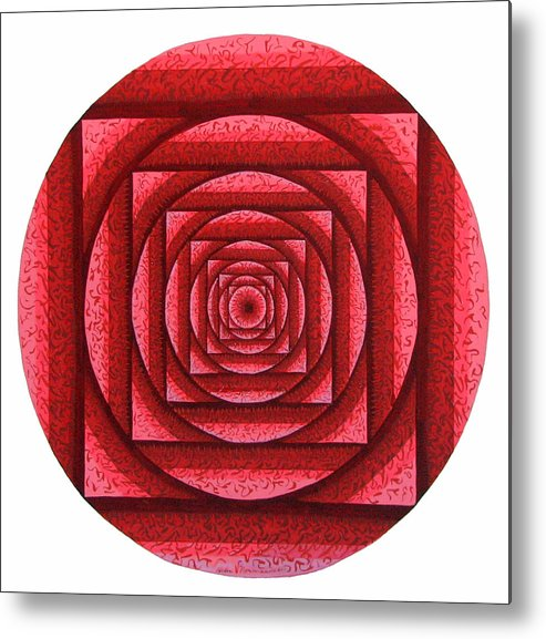 Mandala Metal Print featuring the painting Root Chakra by Helen Normandeau