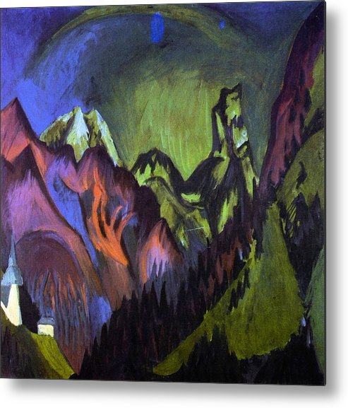 Country Metal Print featuring the painting Tinzenhorn Zugen Gorge Near Monstein by Ernst Ludwig Kirchner