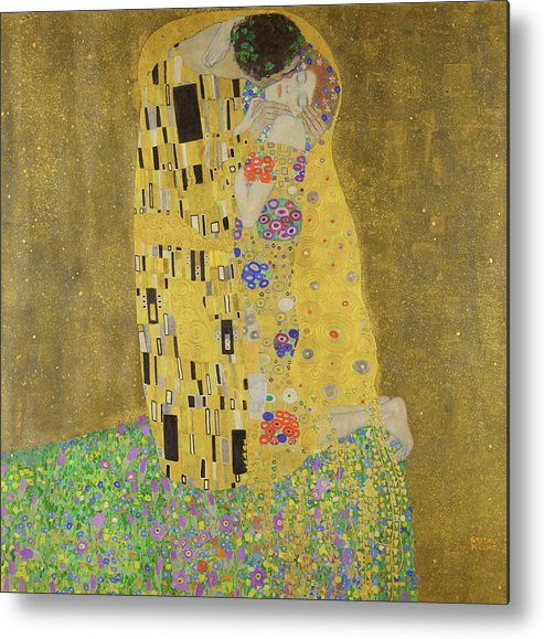 Tree Of Life Metal Print featuring the painting The Kiss by Gustav Klimt