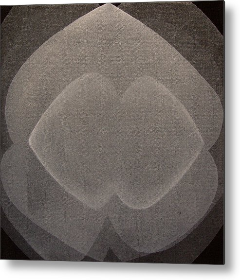 Abstract Metal Print featuring the painting Abstract Flower by Jitka Anlaufova