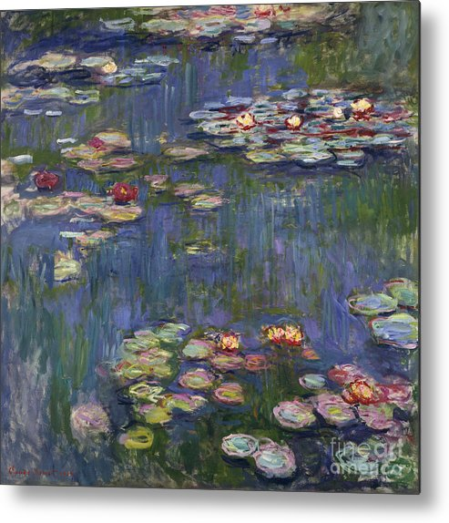 Monet Metal Print featuring the painting Water Lilies, 1916 by Claude Monet