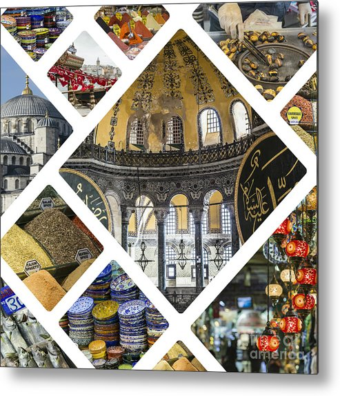 Market Metal Print featuring the photograph Collage Of Istanbul by Mariusz Prusaczyk