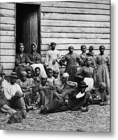 Slavery Metal Print featuring the photograph A Group Of Slaves by Photo Researchers