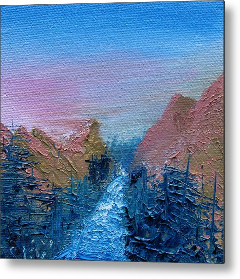 Canyon Metal Print featuring the painting A Mighty River Canyon by Jera Sky