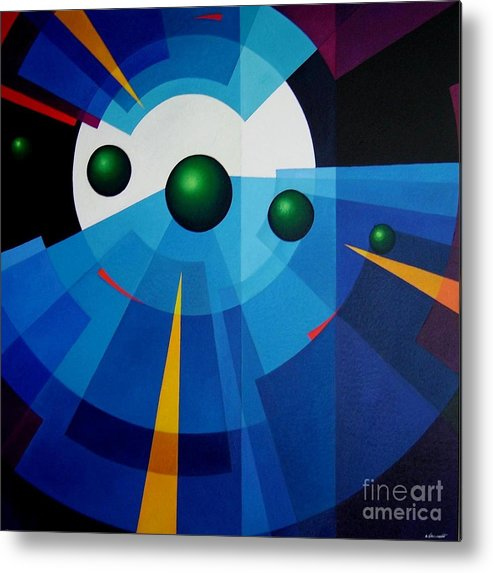 Geometric Abstract Metal Print featuring the painting Ab Oculum by Alberto DAssumpcao