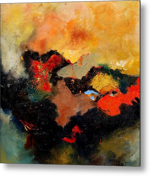 Abstract Metal Print featuring the painting Abstract 8080 by Pol Ledent