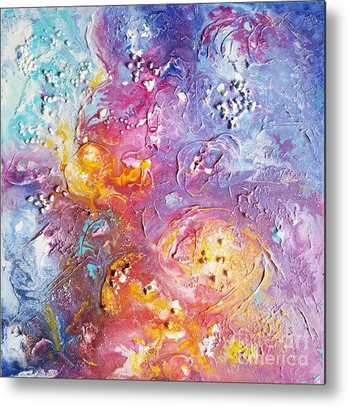 Impressionism Metal Print featuring the painting Abstract Clouds by Olga Malamud-Pavlovich