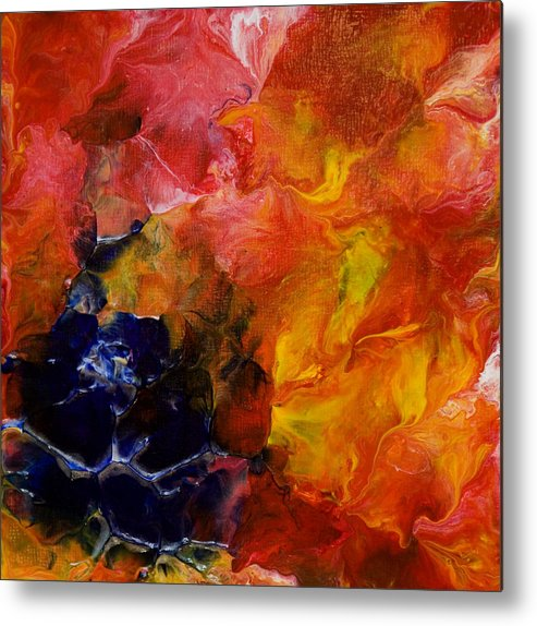 Acrylic Metal Print featuring the painting Abstract Floral by Brad Rickerby