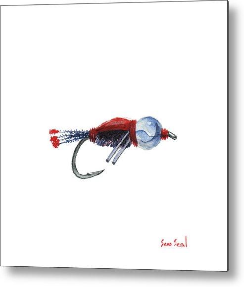 American Metal Print featuring the painting American Bead Head by Sean Seal