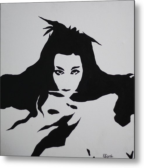Amy Metal Print featuring the painting Amy Lee Reflection by Roger And Michele Hodgson