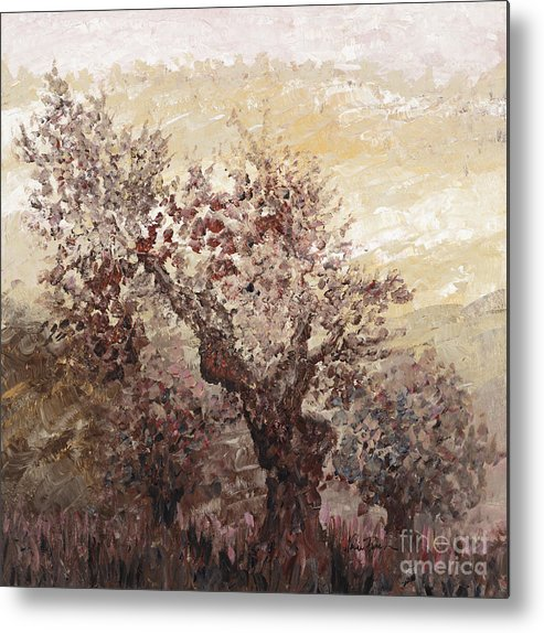 Landscape Metal Print featuring the painting Asian Mist by Nadine Rippelmeyer