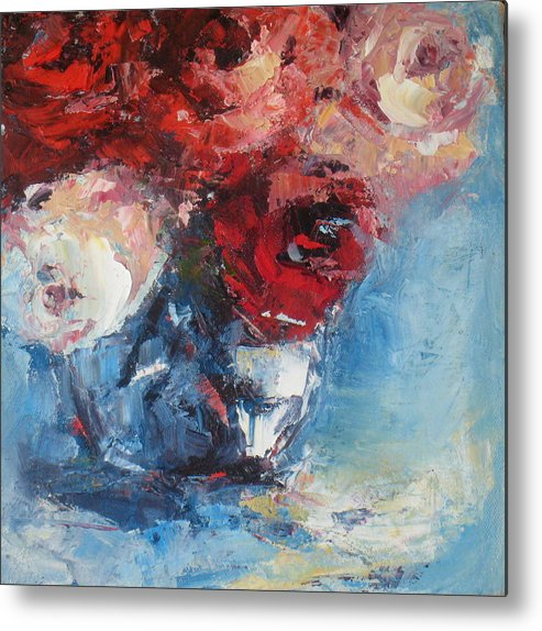 Flowers Metal Print featuring the painting Best Wishes by Sharleen Boaden
